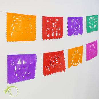 Papel Picado mini *FLORES*